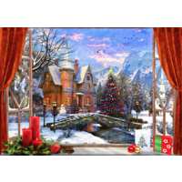 thumb-Christmas Mountain View - puzzle of 1500 pieces-1