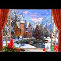 thumb-Kerstmis in de bergen - puzzel van 1500 stukjes-1