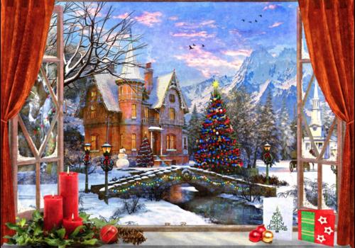 Kerstmis in de bergen - 1500 stukjes