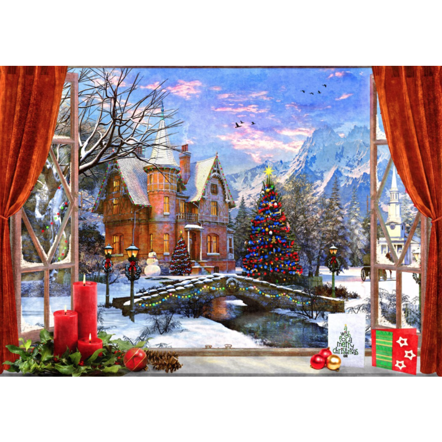 Christmas Mountain View - puzzle of 1500 pieces-1