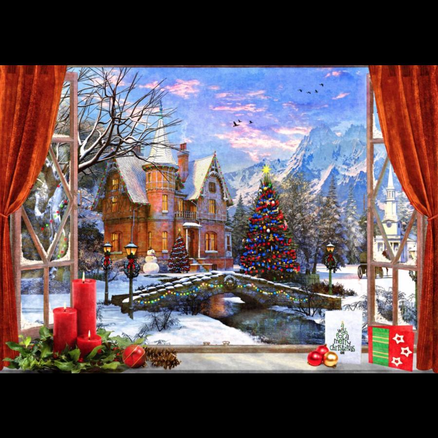 Kerstmis in de bergen - puzzel van 1500 stukjes-1