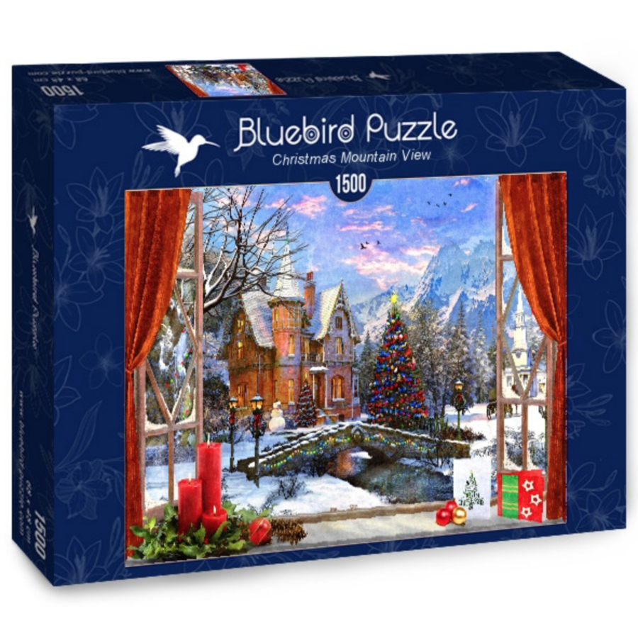 Christmas Mountain View - puzzle of 1500 pieces-2