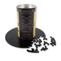 thumb-Puzzle Double Black - Double-sided Round Jigsaw puzzle Acrylic glass - 88 pieces-1