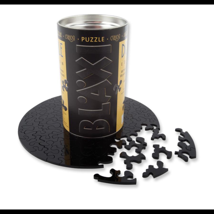 Puzzle Double Noir - Puzzle Ronde Recto-Verso en Plexi - 88 pièces-1
