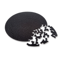 thumb-Puzzle Double Black - Double-sided Round Jigsaw puzzle Acrylic glass - 88 pieces-2