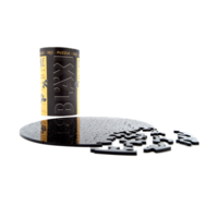 thumb-Puzzle Double Black - Double-sided Round Jigsaw puzzle Acrylic glass - 88 pieces-3