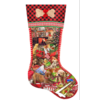SUNSOUT Puppy Stocking  - jigsaw puzzle of 800 pieces