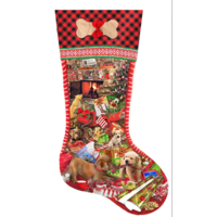 Puppy Stocking  - jigsaw puzzle of 800 pieces