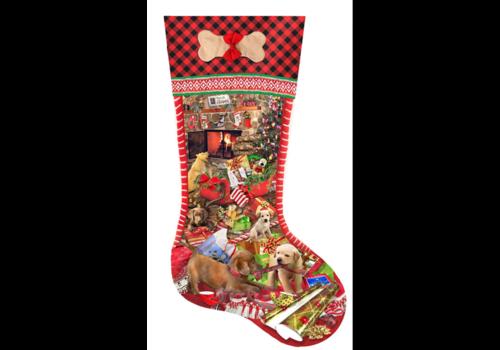 Kerstsok Puppy - 800 stukjes
