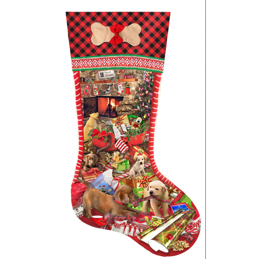 Puppy Stocking  - jigsaw puzzle of 800 pieces-1