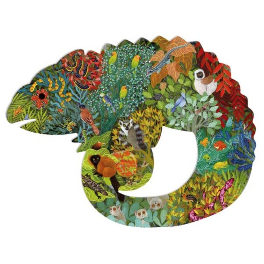 De kleurrijke kameleon - 150 stukjes-1