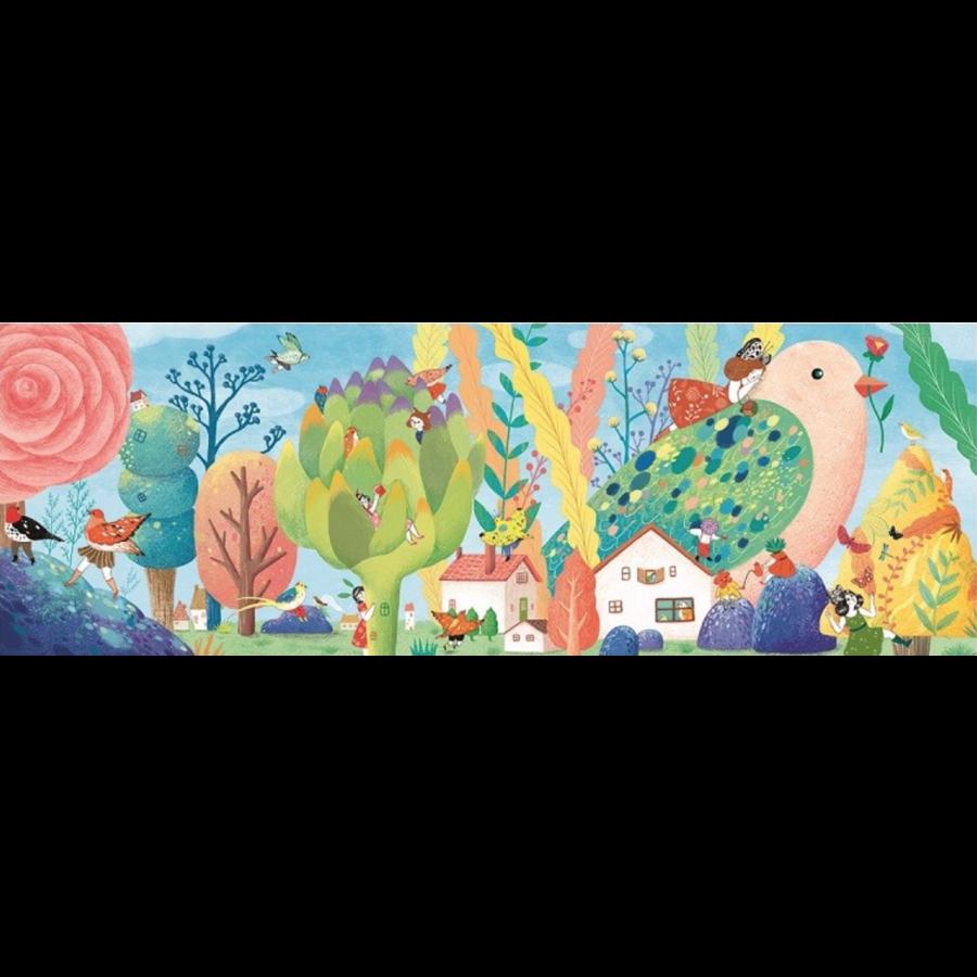 Miss Birdy  - puzzel van 350 stukjes - panorama-1