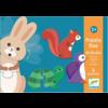 Djeco Puzzel duo - Bewegende dieren - 6 x 2 stukjes