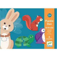 thumb-Puzzle duo - Moving animals - 6 x 2 pieces-1