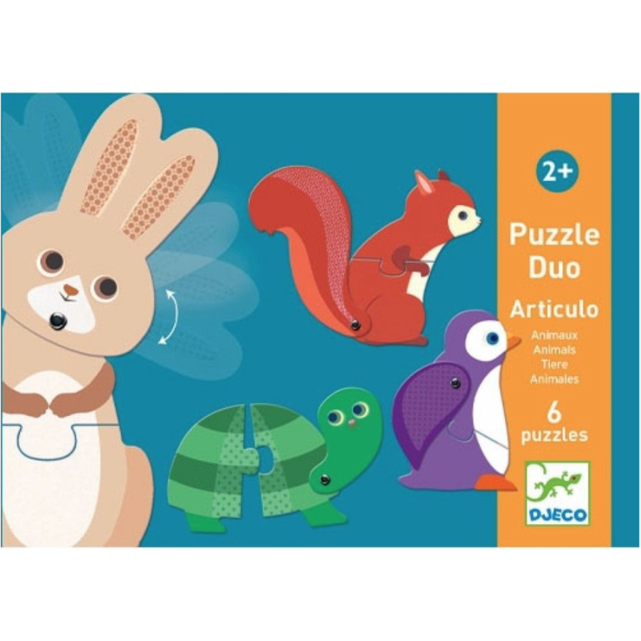 Puzzle duo - Moving animals - 6 x 2 pieces-1