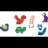 thumb-Puzzel duo - Bewegende dieren - 6 x 2 stukjes-2