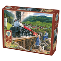 thumb-Steaming out of town - puzzle of 275 XXL pieces-1