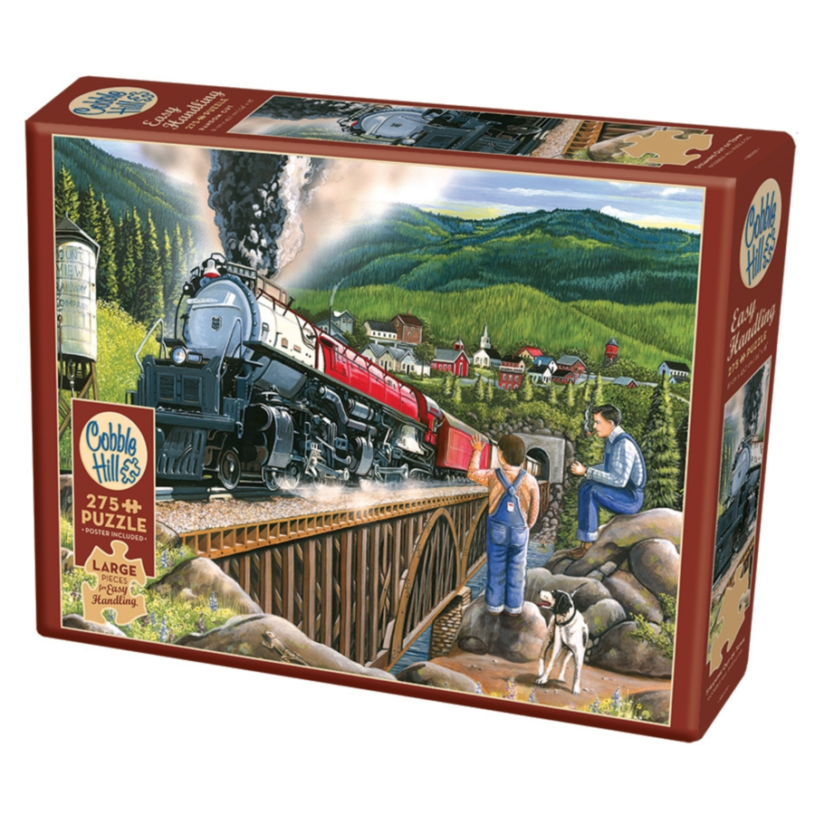 Steaming out of town - puzzle of 275 XXL pieces-1
