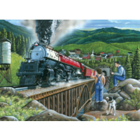 thumb-Steaming out of town - puzzle of 275 XXL pieces-2