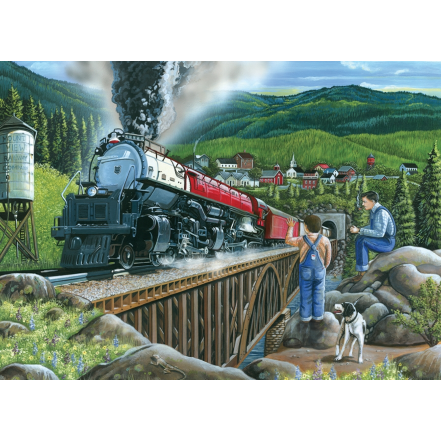 Steaming out of town - puzzle of 275 XXL pieces-2