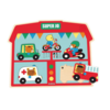 Djeco Sound puzzle - vehicles - 5 pieces