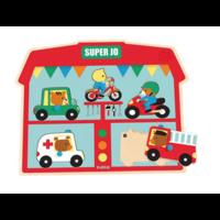 Geluidenpuzzel - voertuigen - 5 stukjes