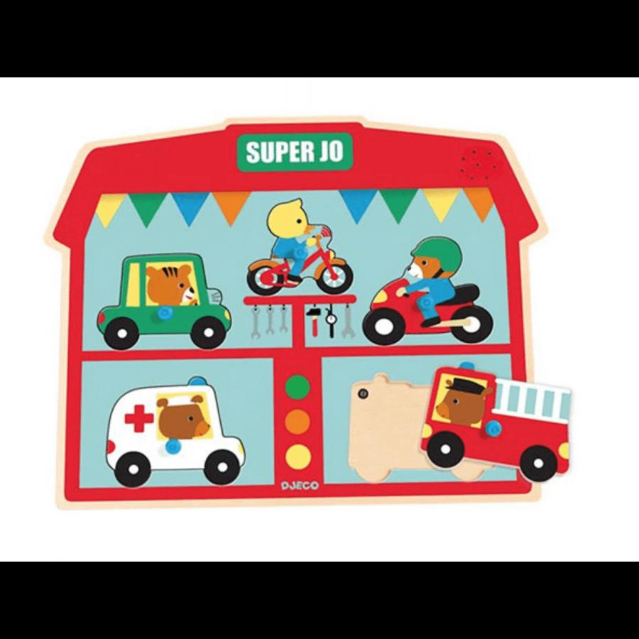 Geluidenpuzzel - voertuigen - 5 stukjes-1