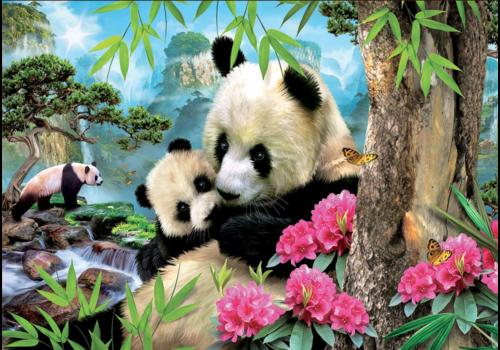 Educa Panda's - 1000 stukjes