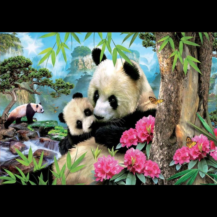 Panda's - legpuzzel van 1000 stukjes-1