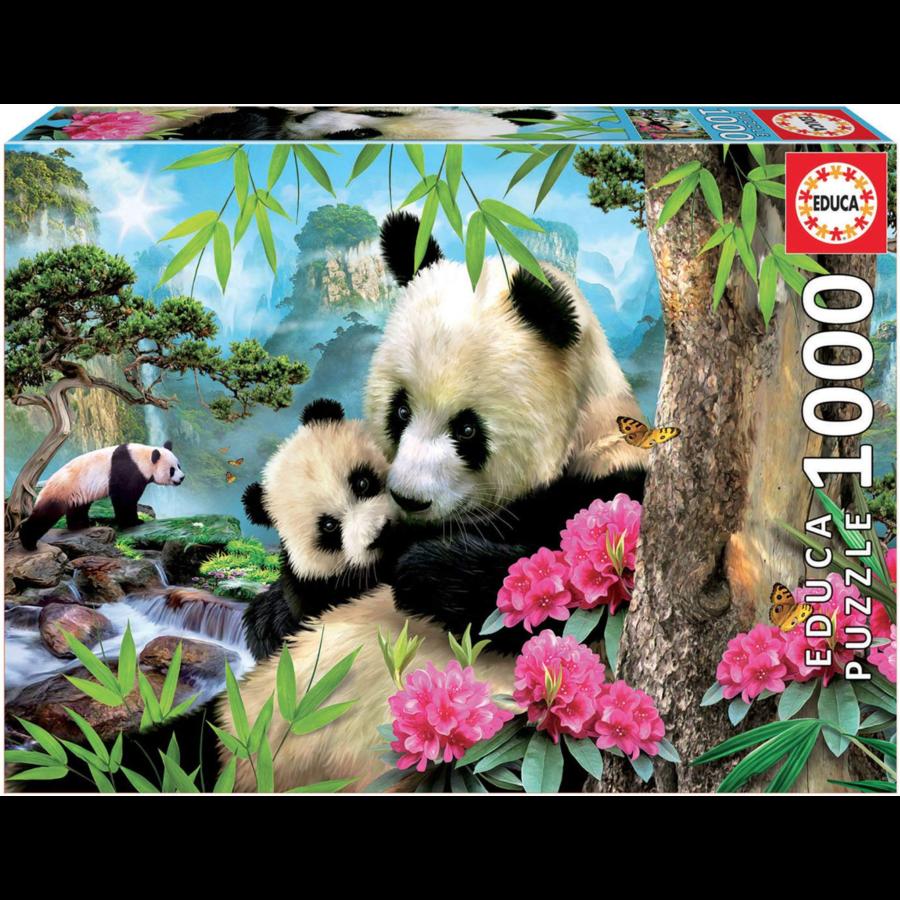 Panda's - legpuzzel van 1000 stukjes-2