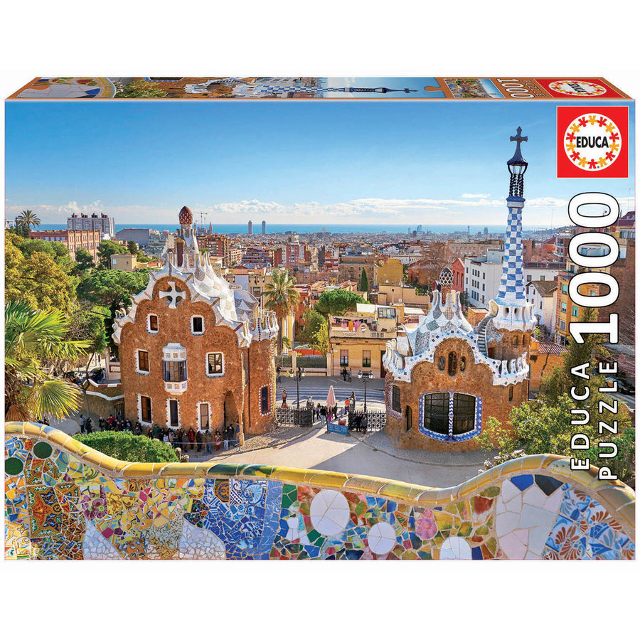 Parc Guell - Barcelona  - puzzel 1000 stukjes-1
