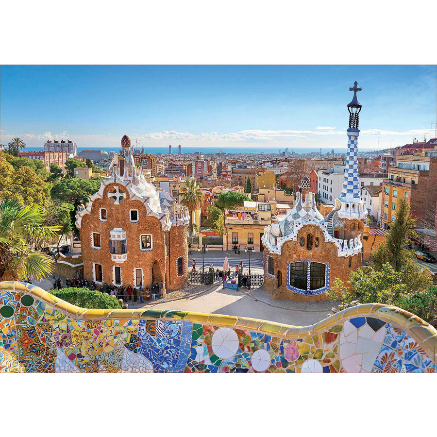 Parc Guell - Barcelona  - puzzel 1000 stukjes-2