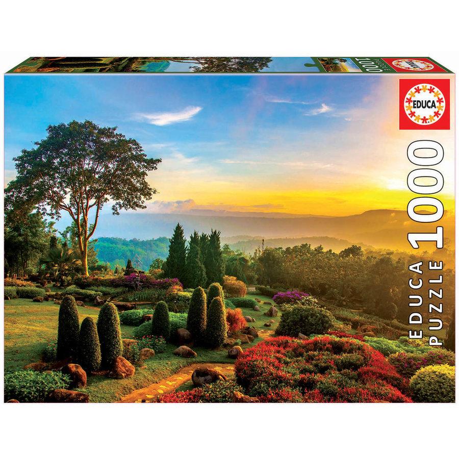 Prachtige tuin  - puzzel 1000 stukjes-1
