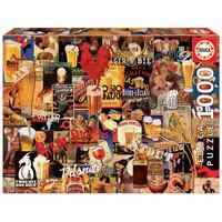 thumb-Vintage collage van bieren  - puzzel 1000 stukjes-1
