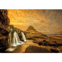 thumb-De waterval Kirkjufellsfoss in IJsland  - 1000 stukjes-2