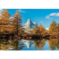 thumb-De Matterhorn berg in de herfst  - 1000 stukjes-2
