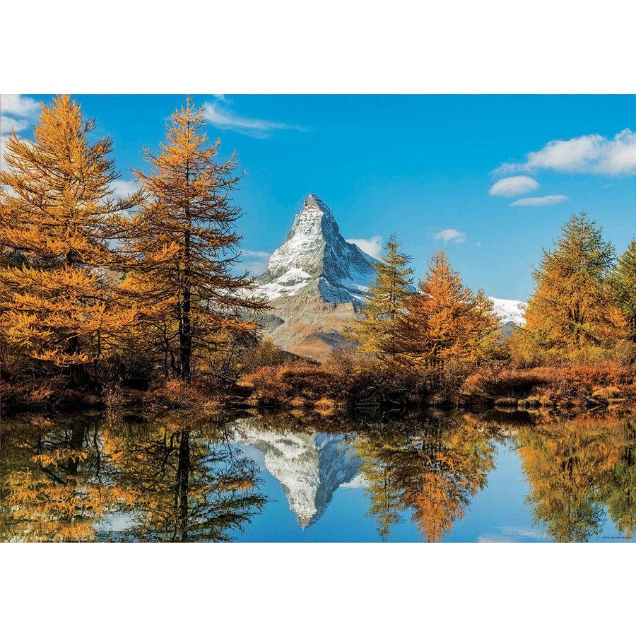 De Matterhorn berg in de herfst  - 1000 stukjes-2