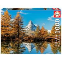 thumb-De Matterhorn berg in de herfst  - 1000 stukjes-1