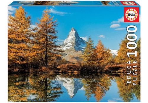 Educa De Matterhorn berg in de herfst - 1000 stukjes