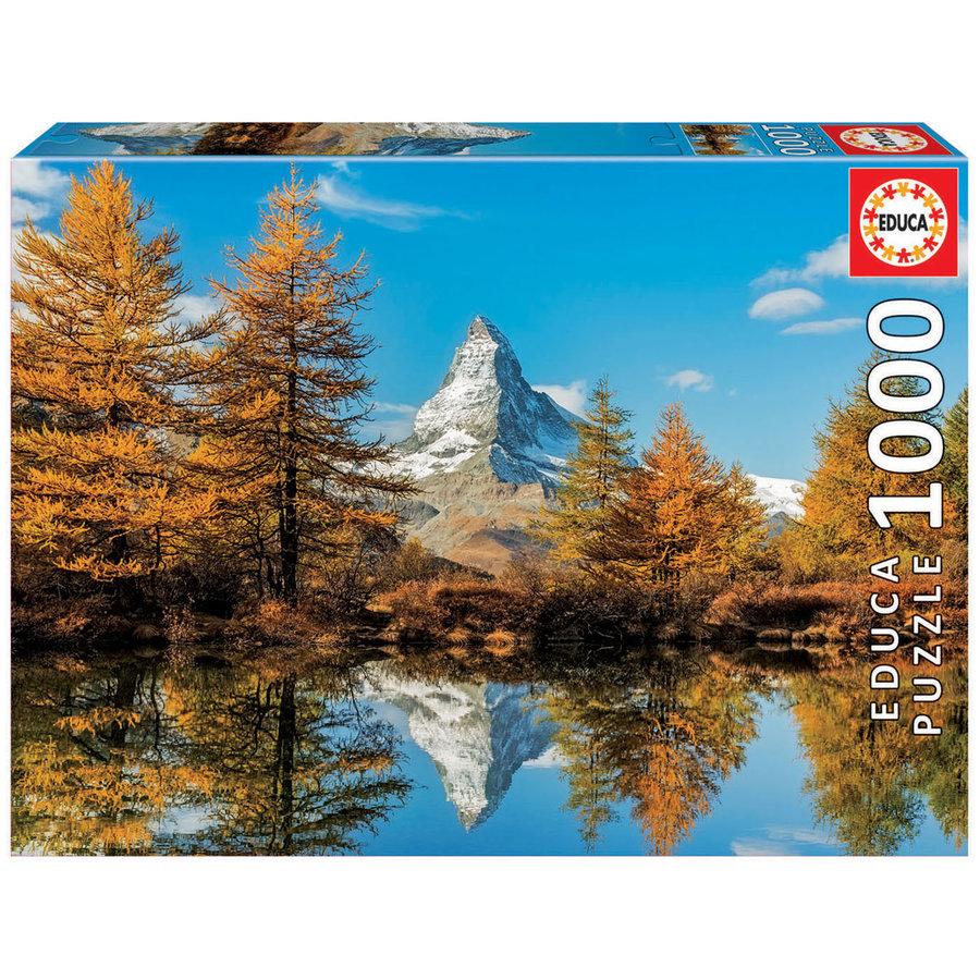 De Matterhorn berg in de herfst  - 1000 stukjes-1