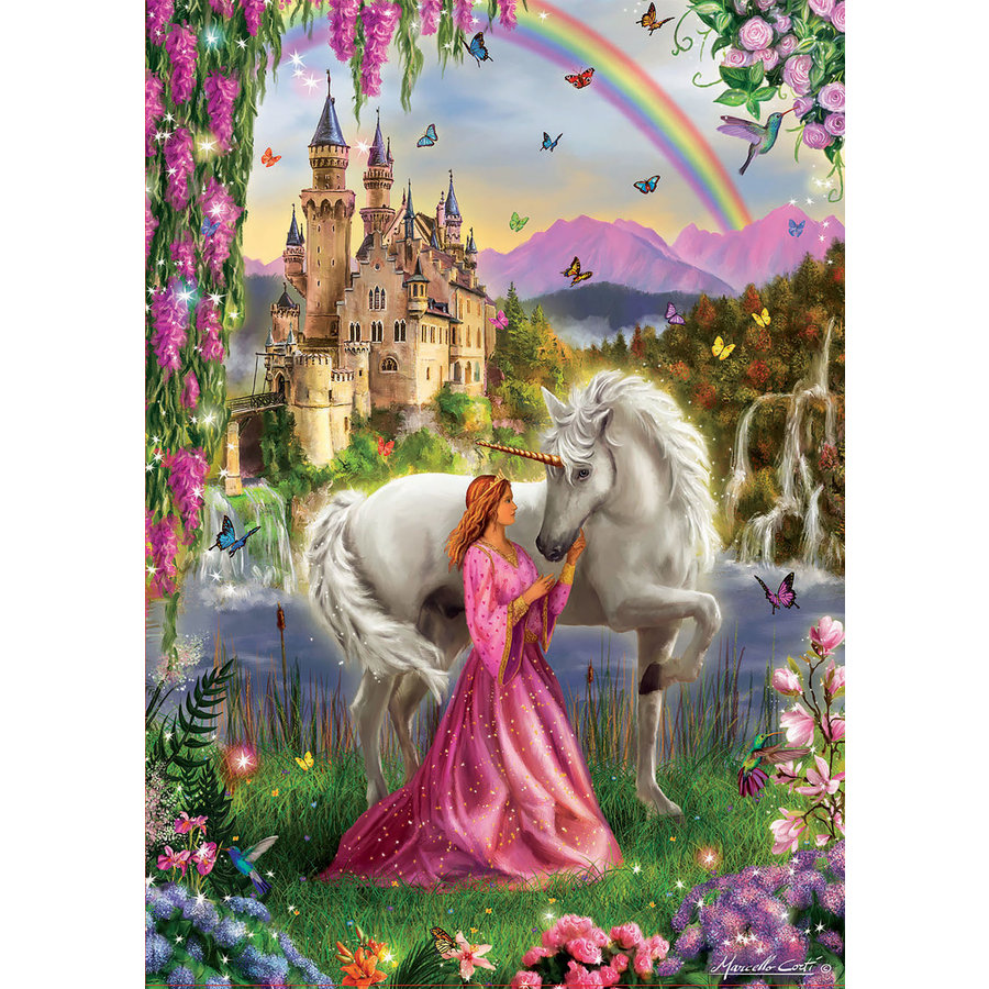 The fairy and the unicorn -  jigsaw puzzle of 500 pieces-2