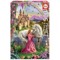 thumb-La fée et la licorne - puzzle de 500 pièces-1