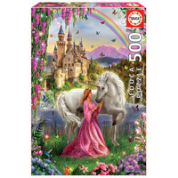 thumb-The fairy and the unicorn -  jigsaw puzzle of 500 pieces-1