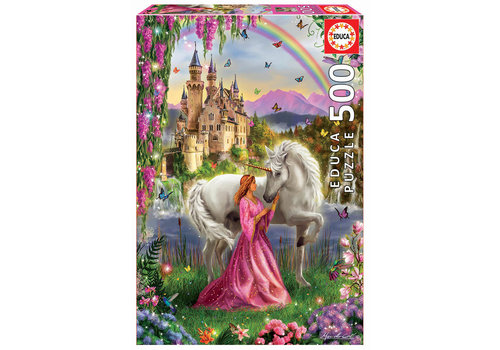 Educa The fairy and the unicorn - 500 pieces