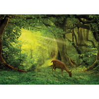 thumb-Little deer in the woods -  jigsaw puzzle of 500 pieces-2