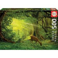 thumb-Hertje in het bos - legpuzzel van 500 stukjes-1