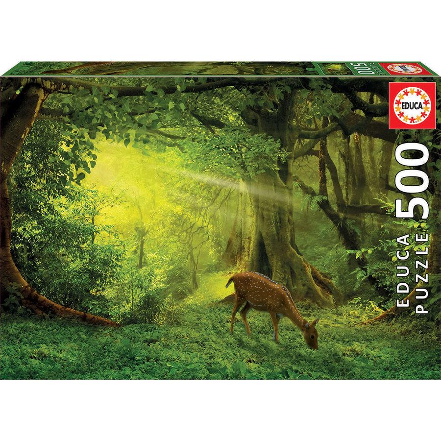 Hertje in het bos - legpuzzel van 500 stukjes-1