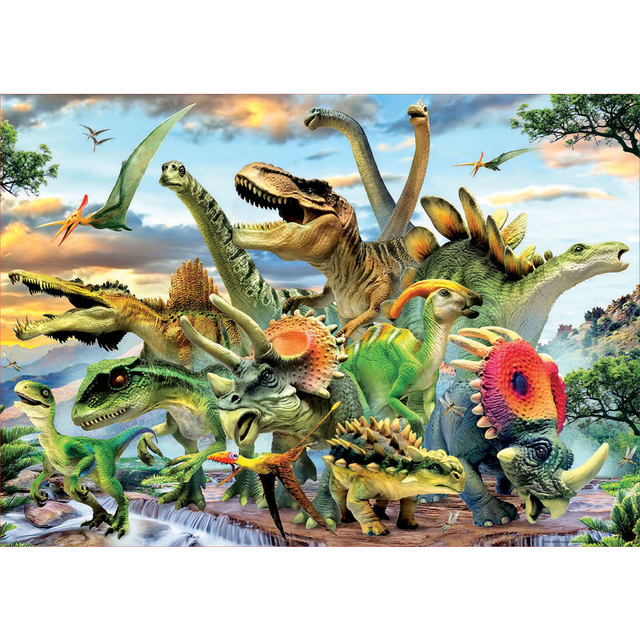 Mighty dinosaurs - jigsaw puzzle of 500 pieces-2