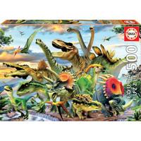 thumb-Machtige dinosaurussen - legpuzzel van 500 stukjes-1