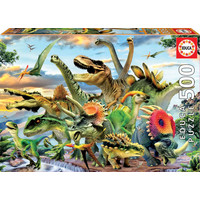 thumb-Mighty dinosaurs - jigsaw puzzle of 500 pieces-1